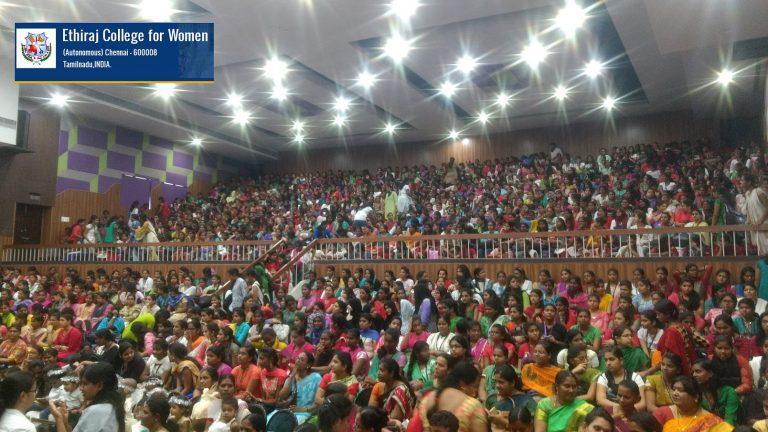 photo of Charles speakingat Ethiraj college