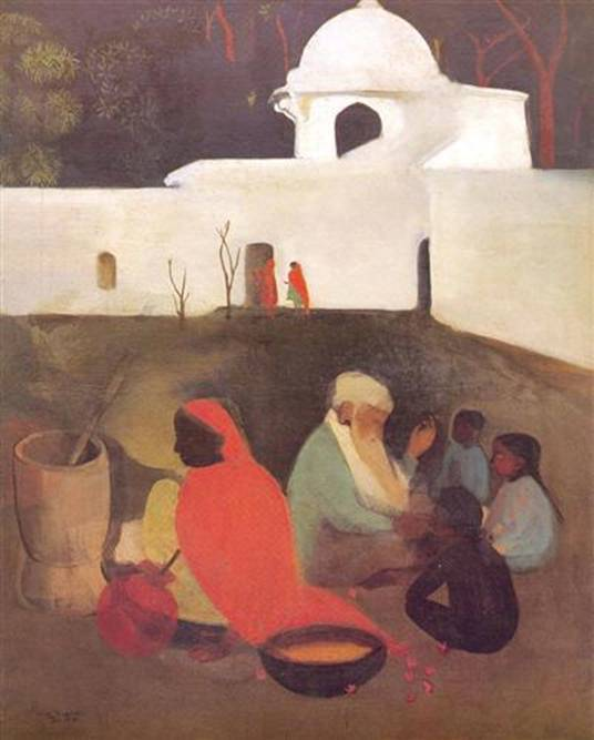 Amrita Sher-Gil, Ancient Storyteller, oil on canvas, 1940
